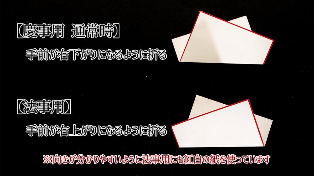 天紙の折り方 マナー