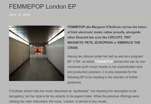 'London' EP Reviews; Electricity Club