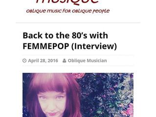 Femmepop Interview with 'Oblique Musique'