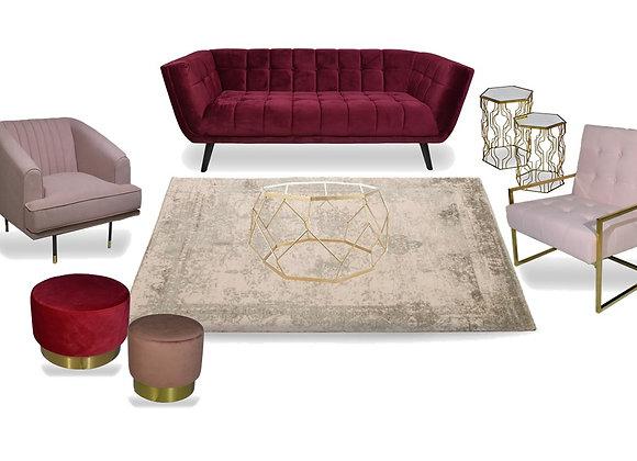 The Burgundy & Blush Lounge Pocket
