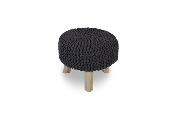 The Knitted Grey Ottoman