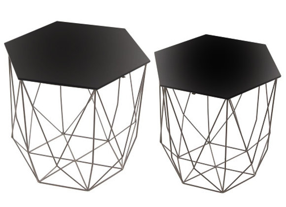 The Hexagon Side Table Set