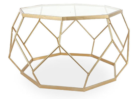 The Gold Geometric Coffee Table