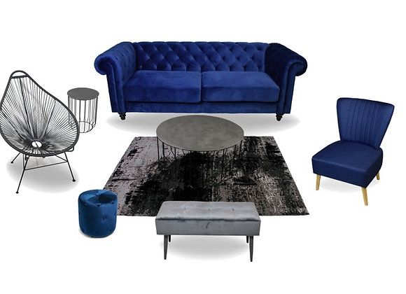The Blue Chesterfield Lounge Pocket