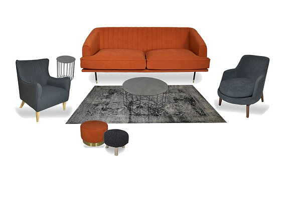 The Tangerine & Grey Lolo Lounge Pocket