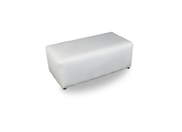 The Classic White Double Ottoman
