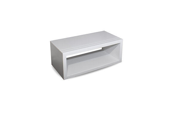 The White Groove Coffee Table