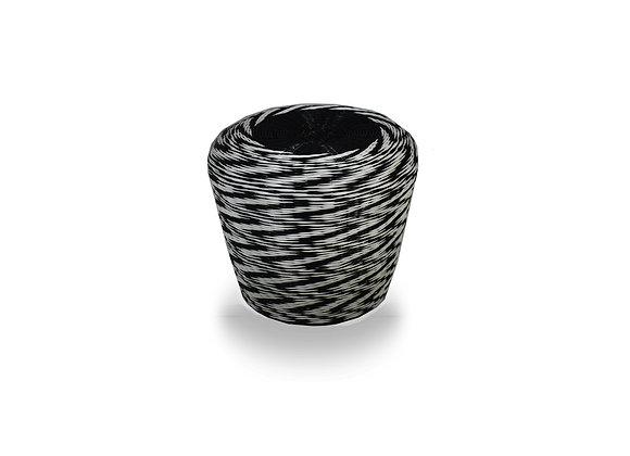 The Woven Black & White Ottoman