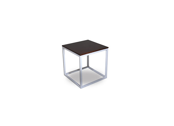 The White Titan Side Table With Black Top