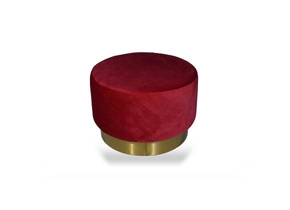 The Large Gold Ringer Burgundy Velvet