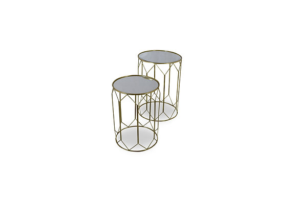 Gold Nested Side Table Set