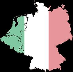 italiaanse vlag benelux + landsgrenzen.p