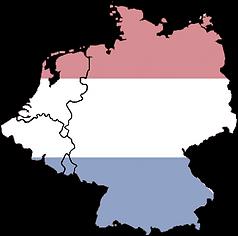 nederlandse vlag benelux + duitsland lan