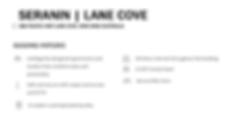 Seranin Lane Cove Details