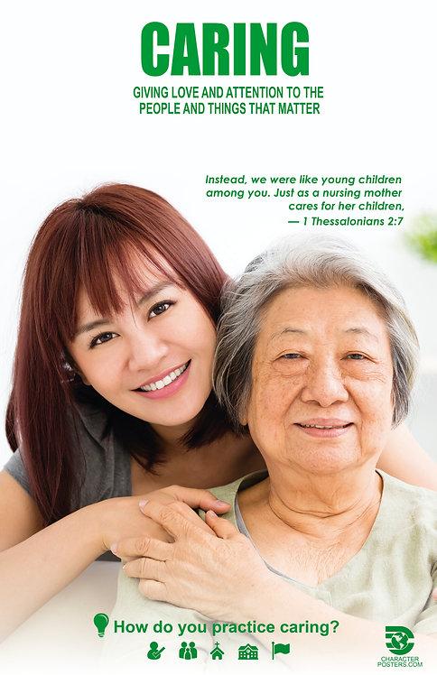 Caring Asian Poster