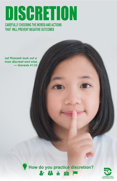 Discretion Asian Poster