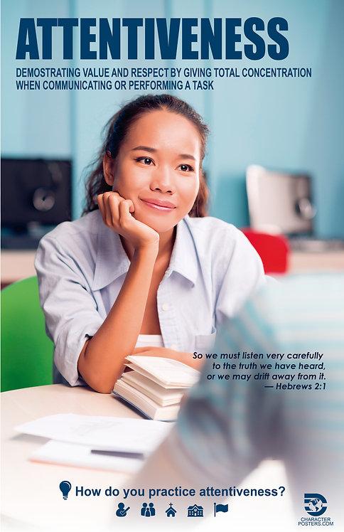 Attentiveness Asian Poster