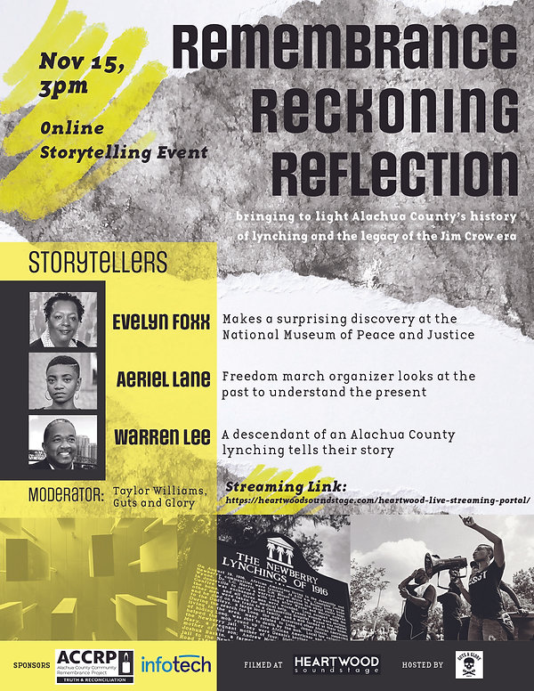 Remembrance, Reckoning, Reflection Flyer