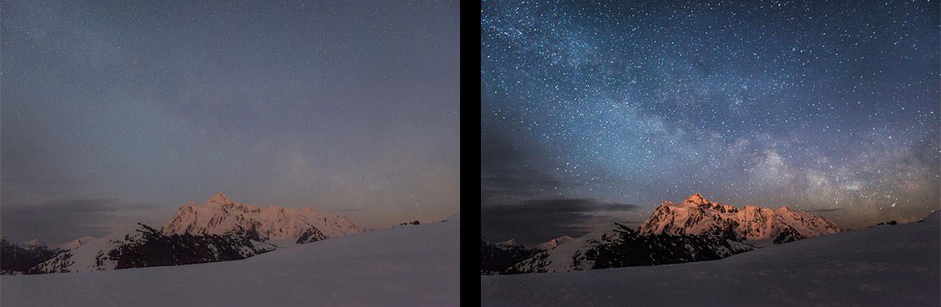 Retusz zdjęć podrózniczych - poprawa nocnego nieba