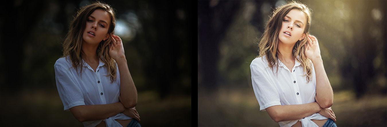 Outdoor portrait edit