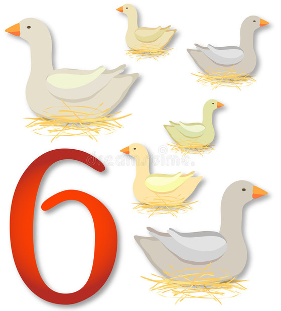 6 Geese A-laying