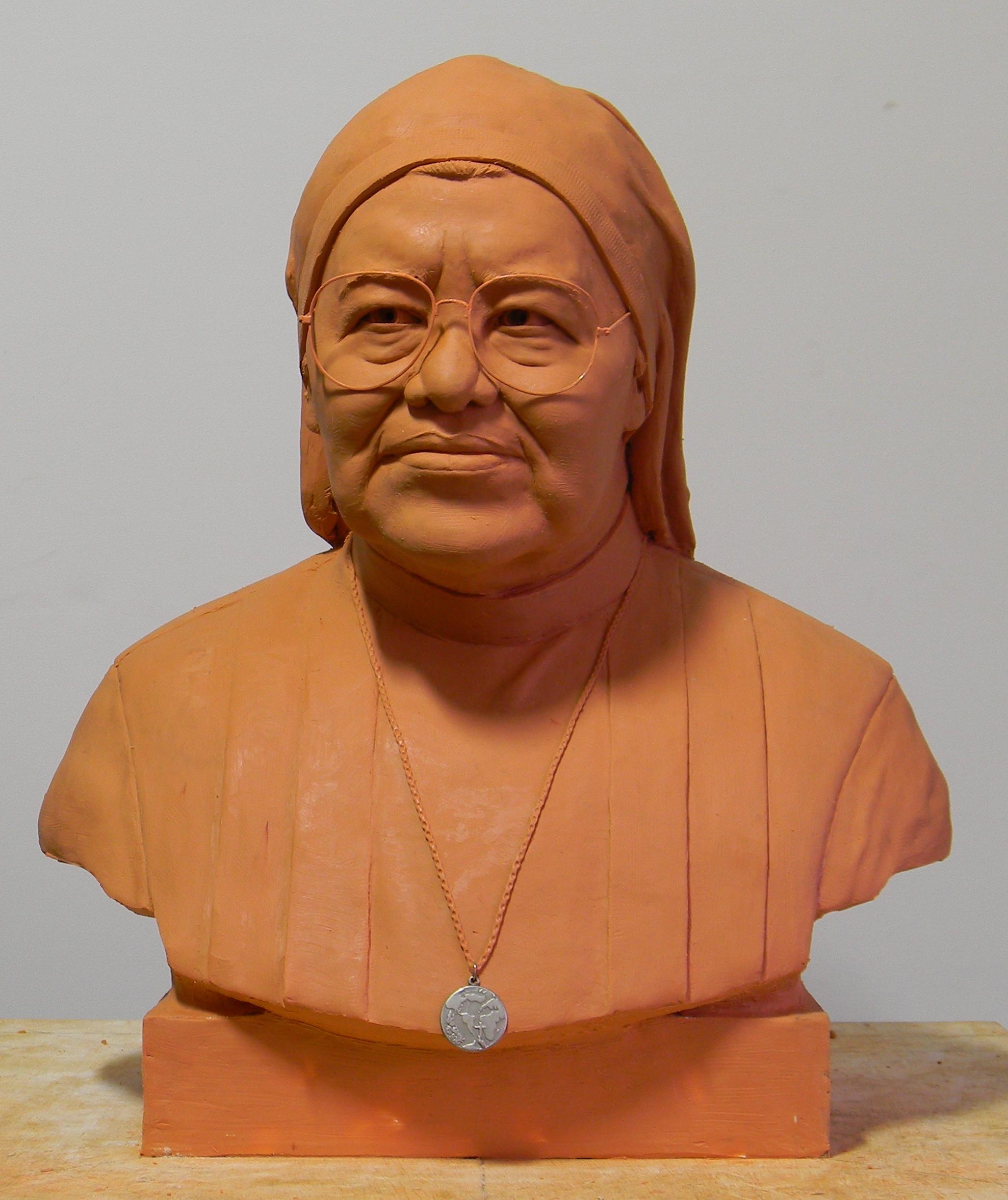 Busto em plastilina