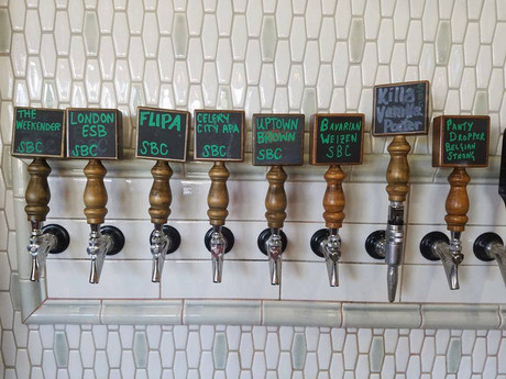 We have beer, our beer, 8 TAPS FULL