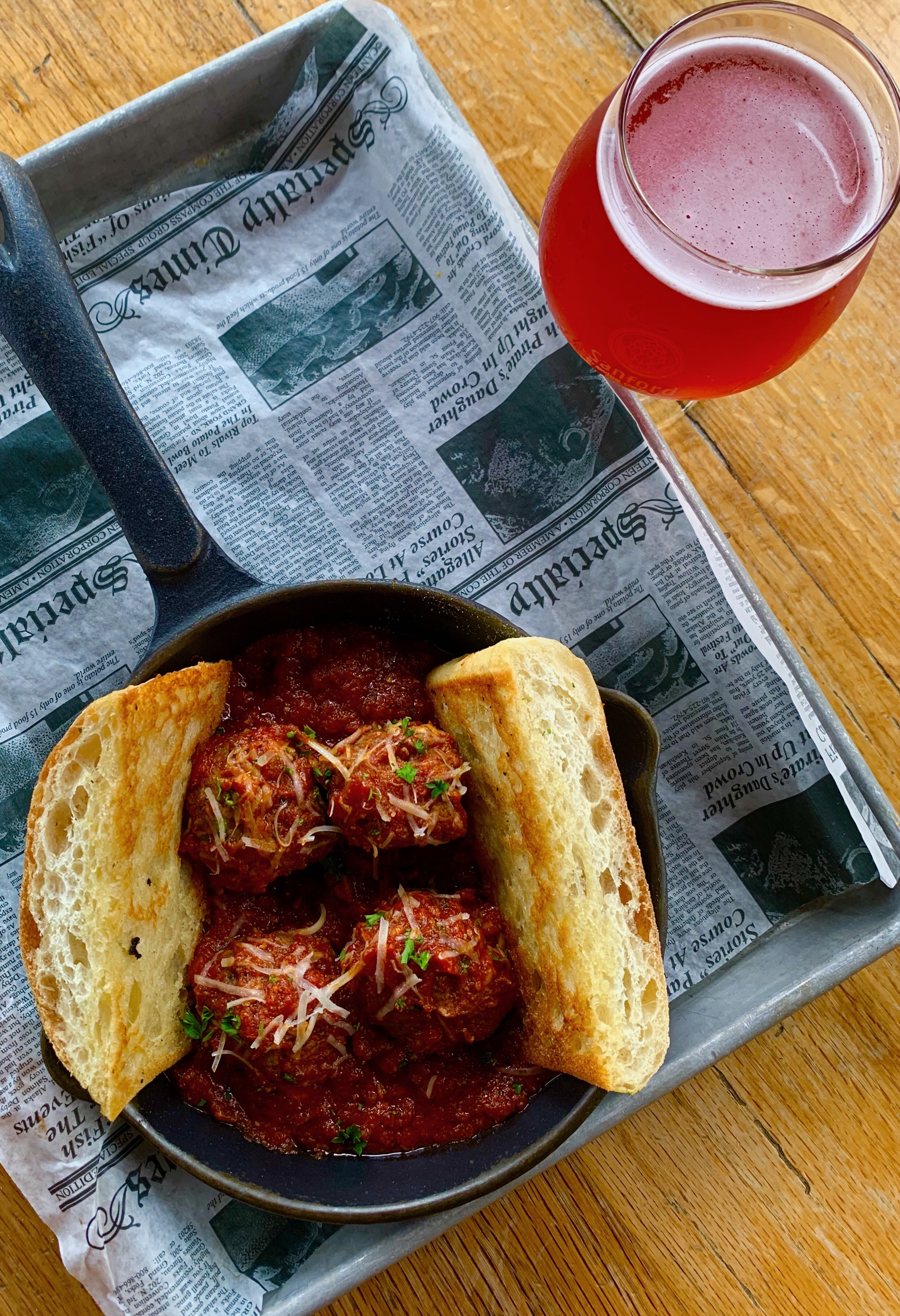 Nonno's Meatballs and a Flamingose