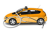 Oranje auto stetoscoop.jpg
