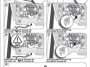 Trekhaak monteren van een Audi, Seat, Skoda, Volkswagen