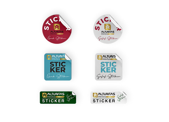 Şeffaf, Opak Sticker / Etiket