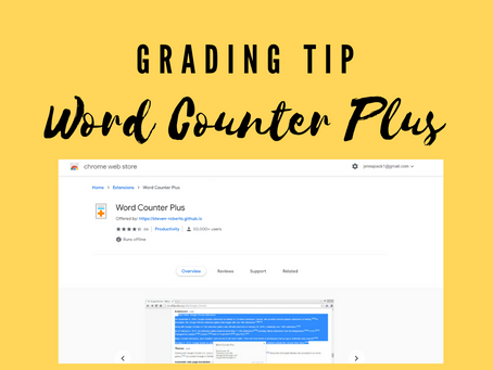 Efficient Grading Tip: A Quick Way to View Assignment Word Counts