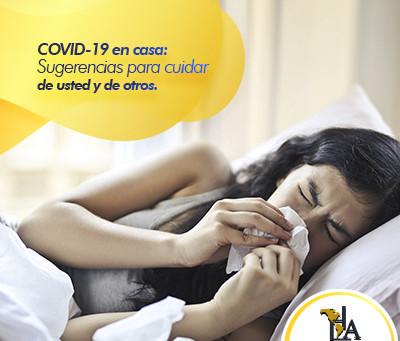 COVID-19 en casa: Sugerencias para cuidar de usted y de otros