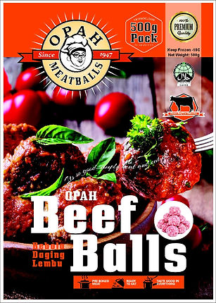 500g beef  front AMENDED MEATBALL PACKAG