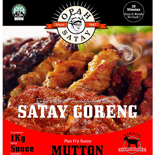 1kg Mutton Satay Goreng with 500g Satay Sauce