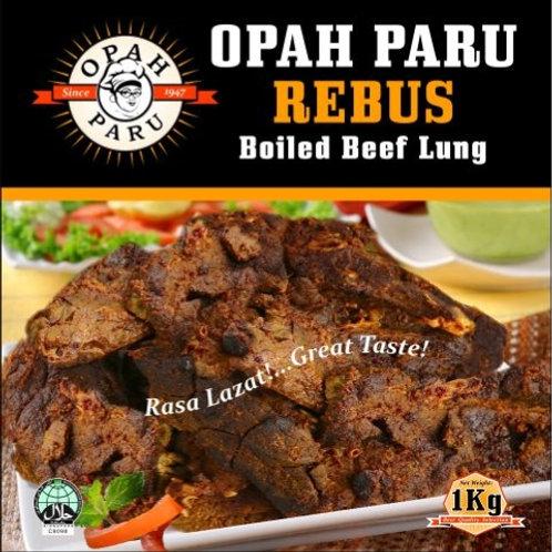 Paru Rebus / Boiled Beef Lungs (1kg)
