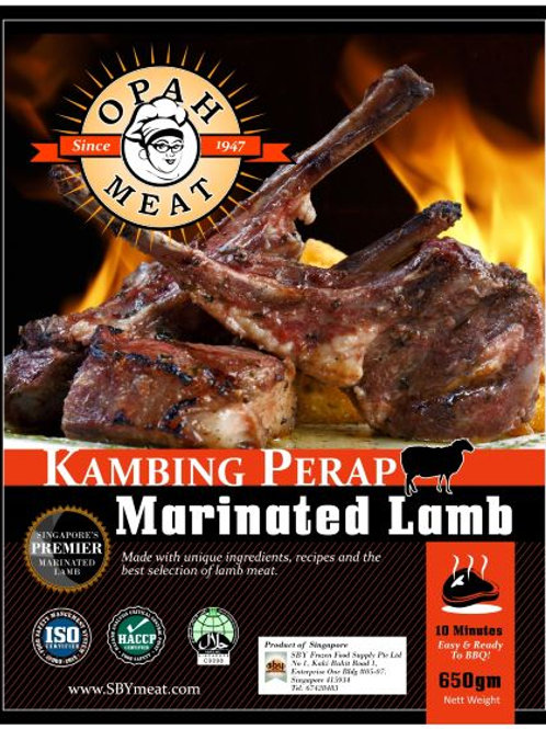 Marinated Lamb Chops (Kambing Perap) - 650gm