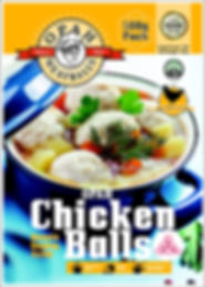 500g chicken front AMENDED MEATBALL PACK