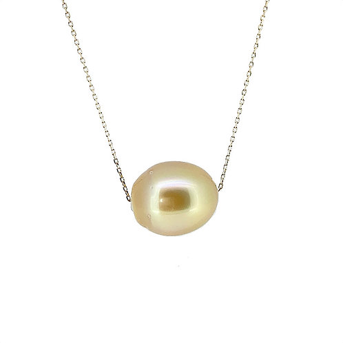 GOLDEN SOUTH SEA CULTURED PEARL FLOATING PENDANT