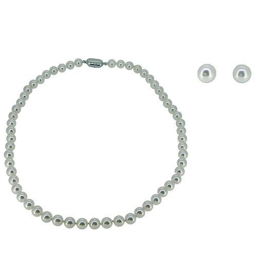 PREMIER HANADAMA AKOYA PEARL STRAND NECKLACE (7.0-7.5mm) SET