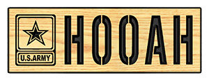 Hooah w/ Army Emblem