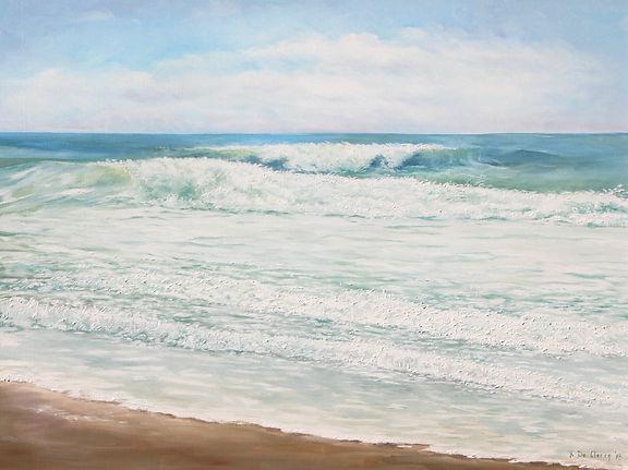 2013 Ocean waves at Dam Neck 75 x 100 cm