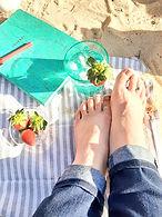 JaimeDill_author feet in the sand
