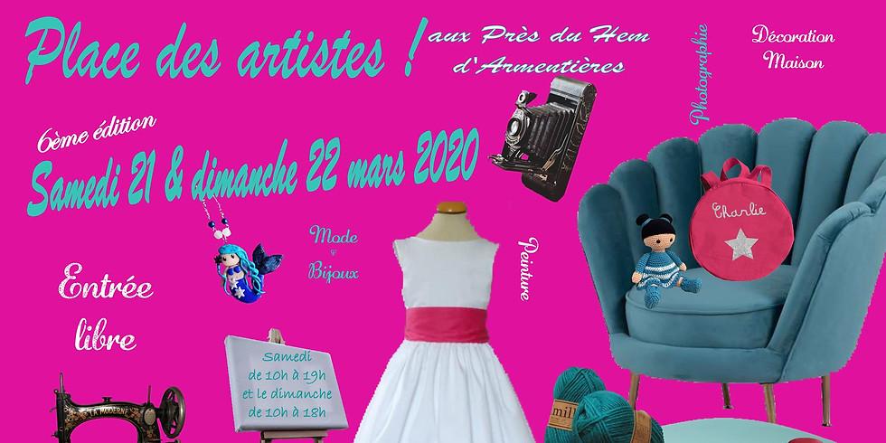 21 & 22 mars 2020 - Place aux artistes - Rencontres et Dédicaces