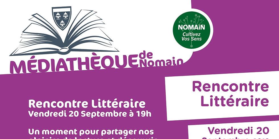 20 septembre 2019 - Médiathèque de Nomain - Rencontre littéraire