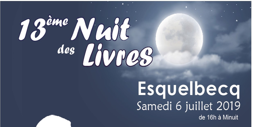 6 juillet 2019 - La nuit des livres d'Esquelbecq
