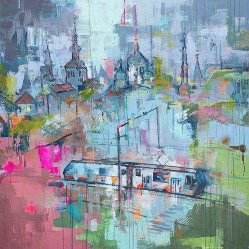"""Tallinn in rain"" print"