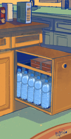 Extra waterbottles
