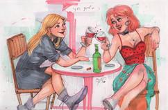 Same taste in wine, different taste in men