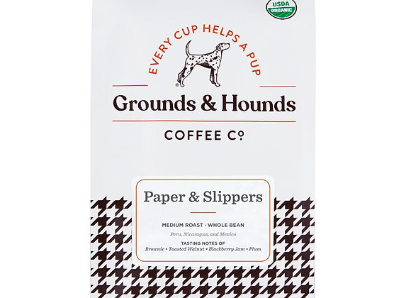 Grounds & Hounds Coffee Paper & Slippers